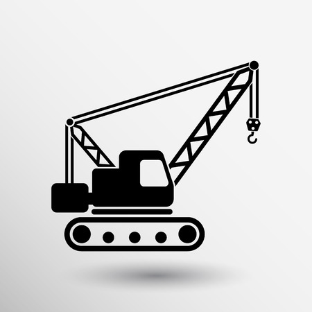 building crane icon vector button logo symbol concept.