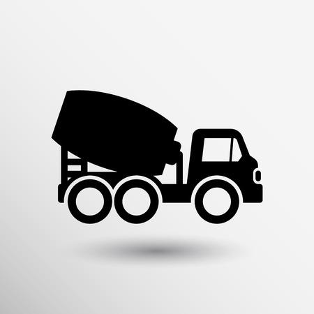 Mikser betonu ikonę wektor przycisk logo symbol koncepcji.