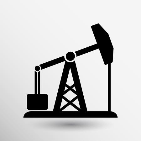 石油リグのアイコン ベクトル ボタン ロゴ シンボル概念。