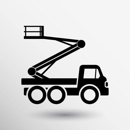 aerial: Construction Machines icon vector button logo symbol concept. Illustration