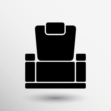 easy chair: chair icon vector button logo symbol concept.