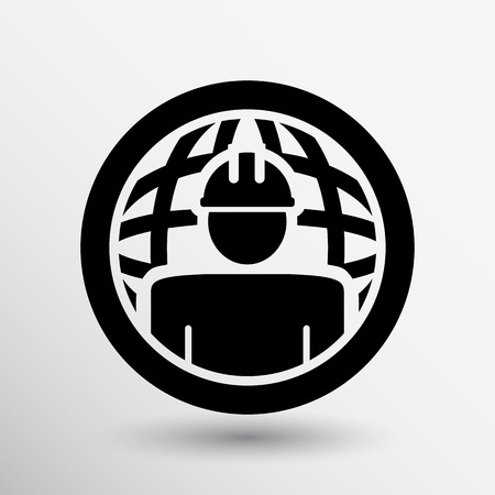job search: Workman Global search icon vector button logo symbol concept.
