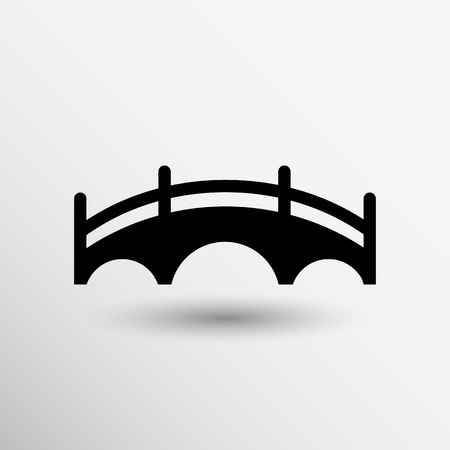 arch: bridge icon vector button logo symbol concept.
