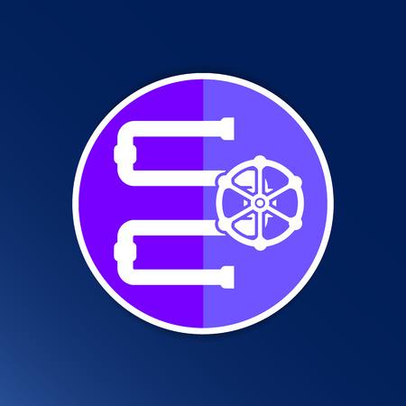 distillery: Water Pipeline Business  icon vector button logo symbol concept. Illustration