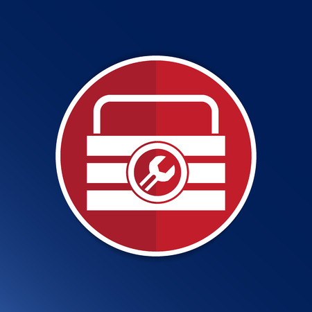 box of tools icon vector button logo symbol concept. Illustration