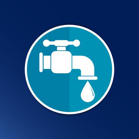 faucet icon vector button logo symbol concept.
