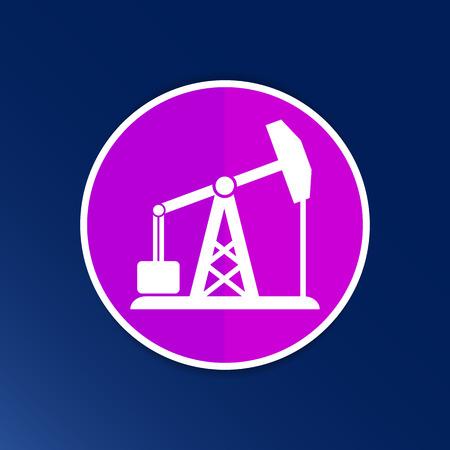 oil rig icon vector button logo symbol concept.