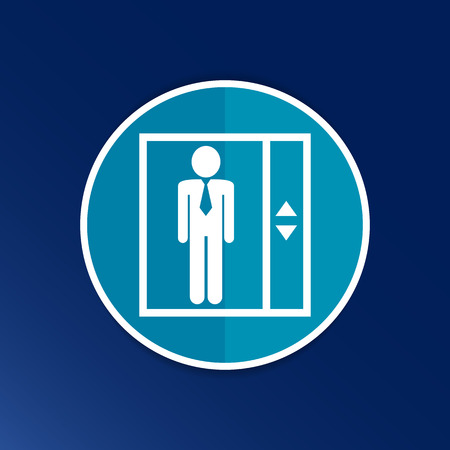 transportation facilities: elevator icon vector button logo symbol concept.
