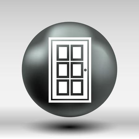 doorknob: Door icon vector button logo symbol concept.