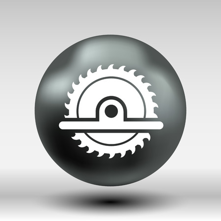 circular saw: Circular Saw icon vector button logo symbol concept. Illustration