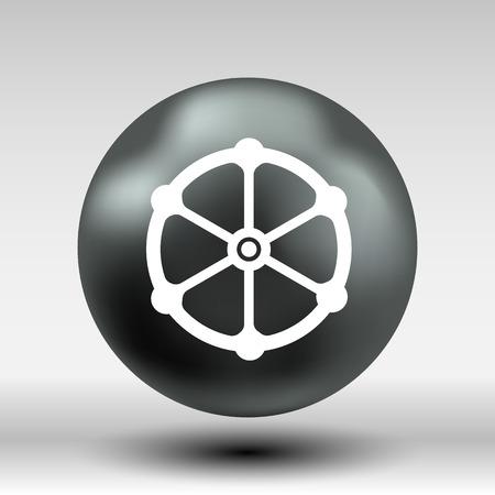 stopcock: valve icon vector button logo symbol concept. Illustration