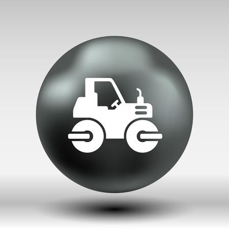 hydraulic platform: Pis�n Major Construcci�n Pista de Asfalto bot�n del icono del vector del s�mbolo del logotipo concepto.