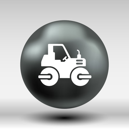 road paving: Rammer Major Construction Rink Asphalt icon vector button logo symbol concept.