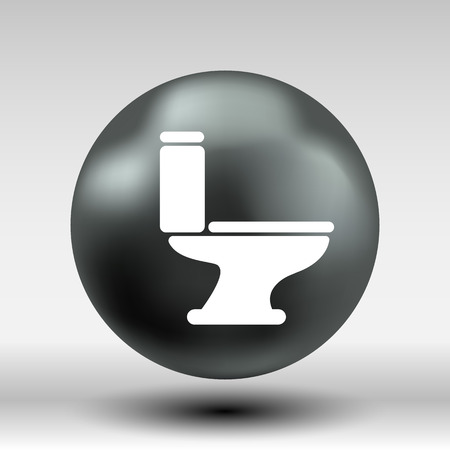 bidet: toilet icon vector button logo symbol concept. Illustration
