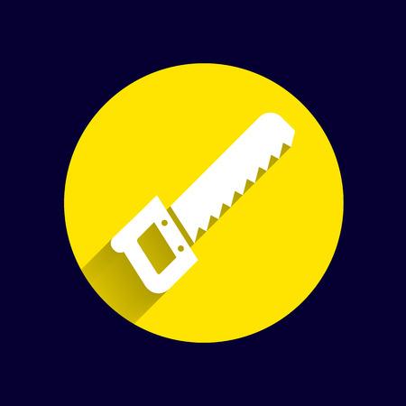 cutoff blade: saw Icon vector button logo symbol concept. Illustration