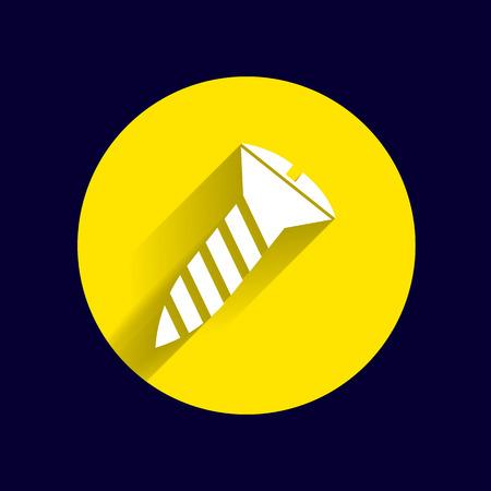 bolt head: screw Icon vector button logo symbol concept.