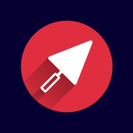 implement: plastering trowel icon vector button logo symbol.