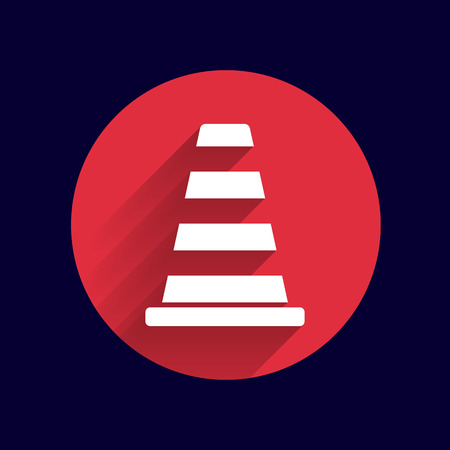 symbol fence: road cone fence icon vector button logo symbol. Illustration