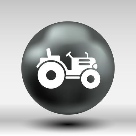 horticulturist: Tractor icon vector button logo symbol concept. Illustration