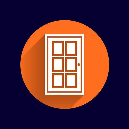 door icon: Door icon vector button logo symbol concept.