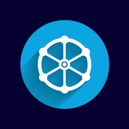 conduit: valve icon vector button logo symbol concept. Illustration
