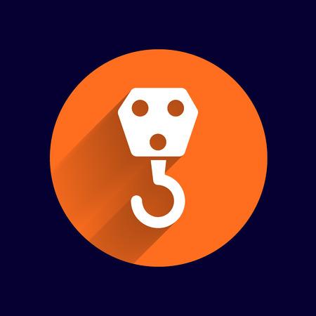 truck crane: crane hook icon vector button logo symbol concept.