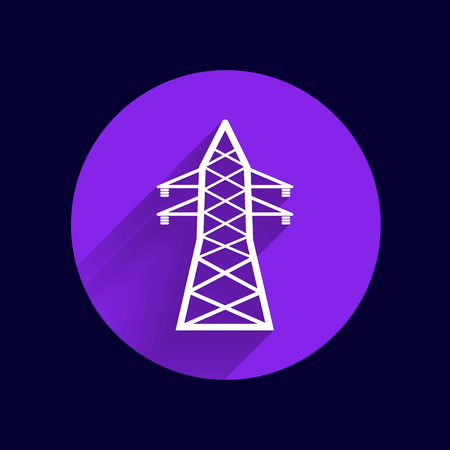 mains: high-voltage line icon vector button logo symbol concept.