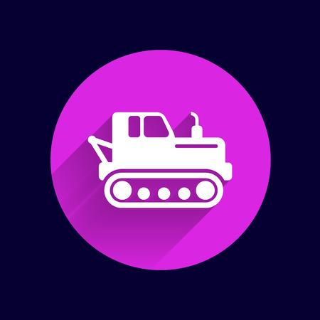 crawler tractor: crawler tractor icon vector button logo symbol concept.