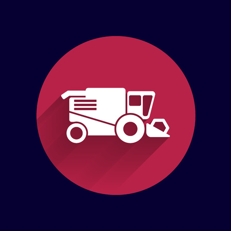 combine harvester: Combine harvester icon vector button logo symbol concept. Illustration