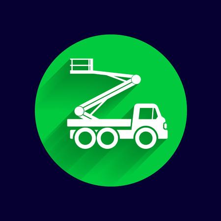 plataforma: Máquinas de construcción icono del vector logotipo del botón de símbolo de concepto.