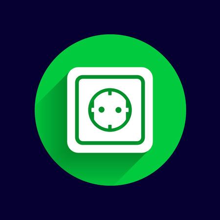 amperage: electric outlet  icon vector button logo symbol concept.