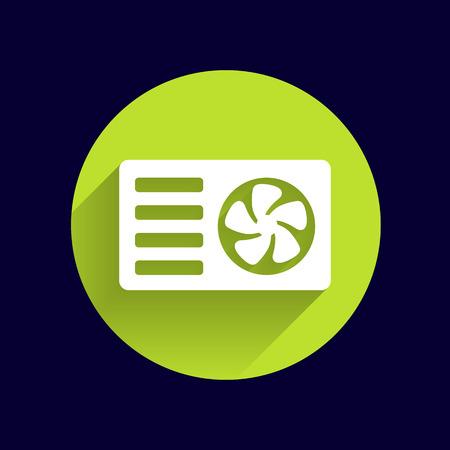 air conditioning: air conditioner icon vector button logo symbol concept.