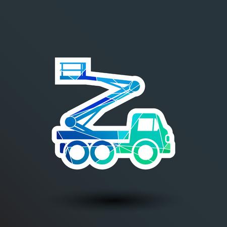 Construction Machines icon vector button logo symbol concept. Ilustração