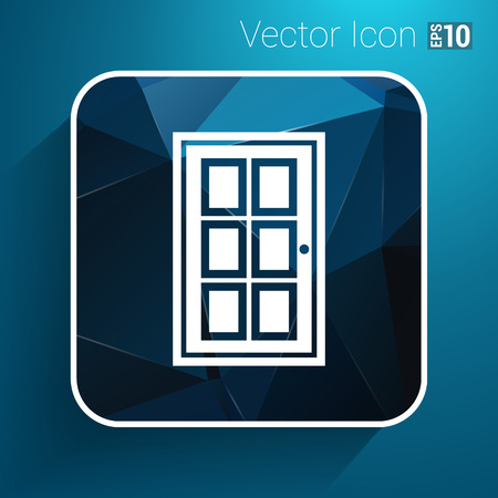 approach: Door icon vector button logo symbol concept.