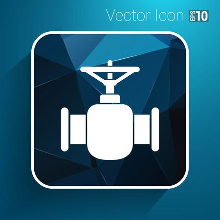 stopcock: pipeline icon vector button logo symbol concept.