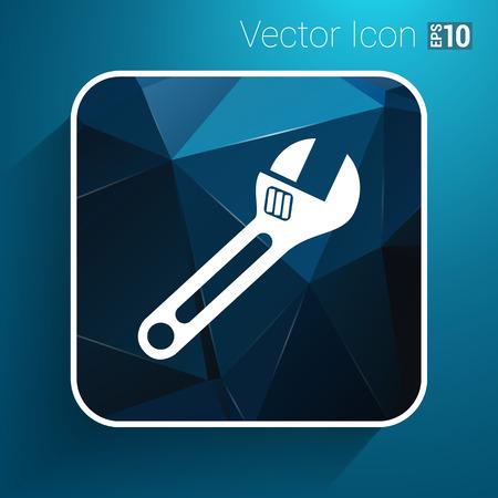 spanner icon vector button logo symbol concept.