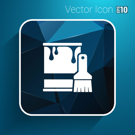 paint bucket: paint bucket icon vector button logo symbol concept.
