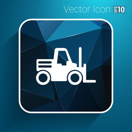 forklift: forklift icon vector button logo symbol concept.
