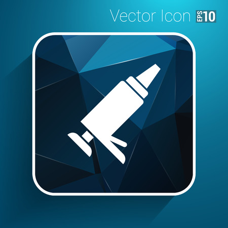 silicone gun: Sealer  icon vector button logo symbol concept.