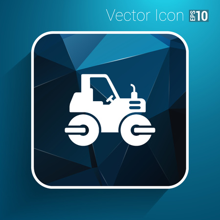 belt up: Rammer Major Construction Rink Asphalt icon vector button logo symbol concept.