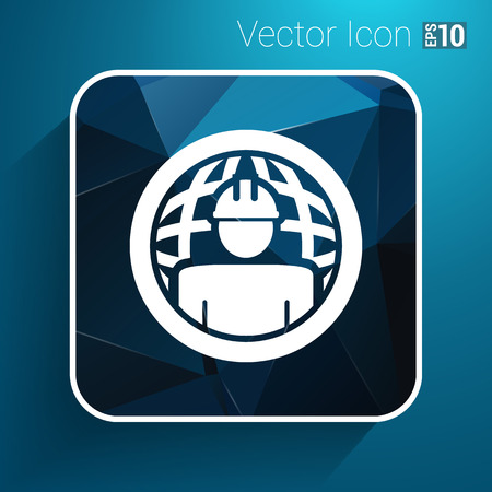 workman: Workman Global search icon vector button logo symbol concept.