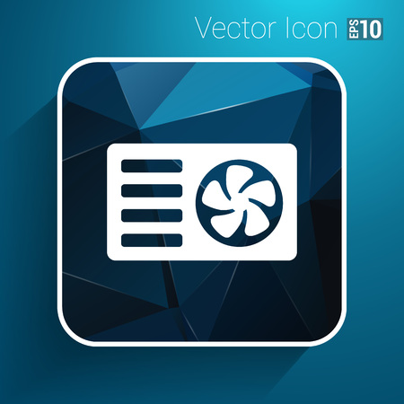 acclimatization: air conditioner icon vector button logo symbol concept.