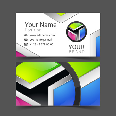 identity card: vector abstract bright business card banner design templates.