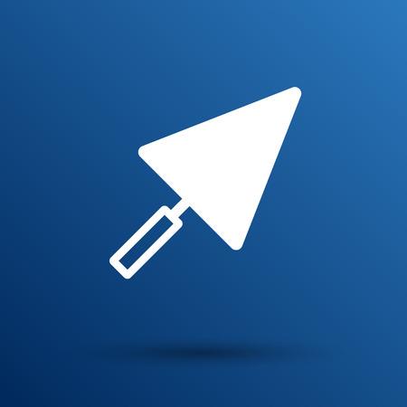 plastering: plastering trowel icon vector button  symbol.