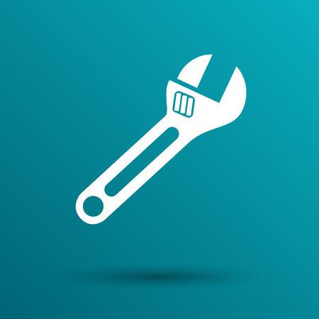 adjustment: spanner icon vector button  symbol concept.