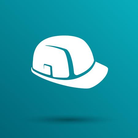 construction helmet: construction helmet icon vector button  symbol concept. Illustration