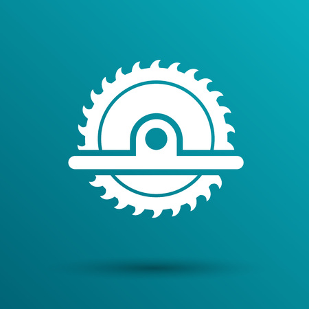 circular saw: Circular Saw icon vector button  symbol concept.