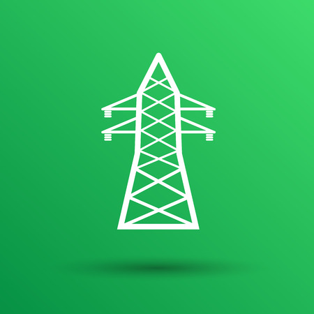 mains: high-voltage line icon vector button  symbol concept. Illustration