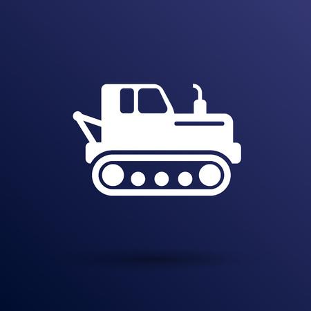 crawler tractor: crawler tractor icon vector button  symbol concept.