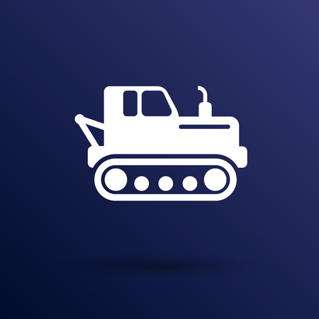 crawler tractor icon vector button  symbol concept.